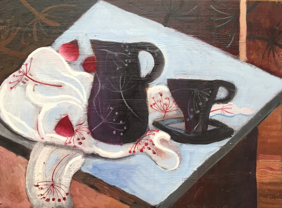 SOLD Still Life with Black Jug