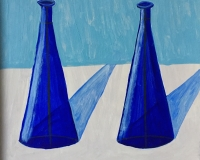 Two Blue Vases